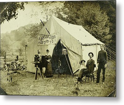 Ferrotypie Tent Of The Photographer, Jq Galusha Metal Print