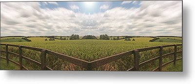 Field And Sky, South England Metal Print by Vast Photography