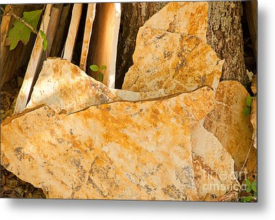 Metal Print featuring the photograph Field Stones by Lena Wilhite