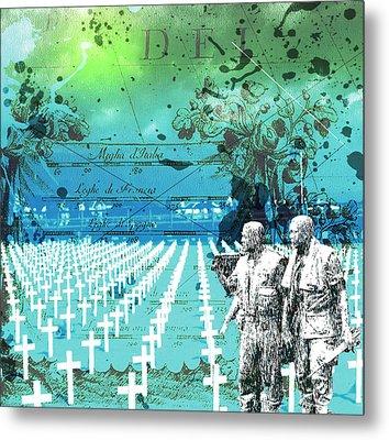 Fields Of Peace Metal Print by Diskrid Art