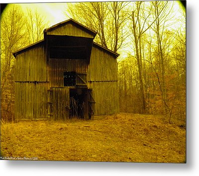 Metal Print featuring the photograph Filtered Barn by Nick Kirby