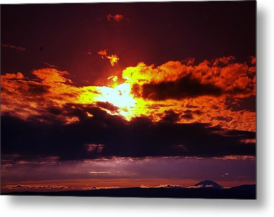 Fire In The Clouds Metal Print by Jeff Swan