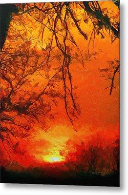 Fire In The Sky Metal Print by Jeffrey Kolker