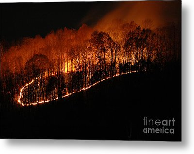 Fire On The Mountain Metal Print by Steven Townsend