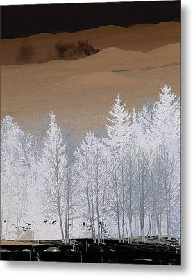 Metal Print featuring the photograph Fire On The Peaks by Tom Kelly