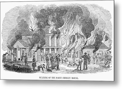 Fire Point Shirley, 1851 Metal Print