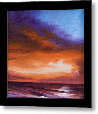 Firesun Sky Metal Print by James Christopher Hill