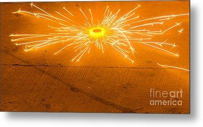 Firework Wheel Metal Print by Image World