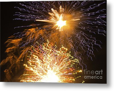 Fireworks Abstract 01 Metal Print by Crush Creations