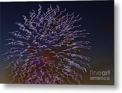 Fireworks Abstract 02 Metal Print by Crush Creations