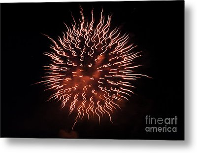 Fireworks Abstract 03 Metal Print by Crush Creations