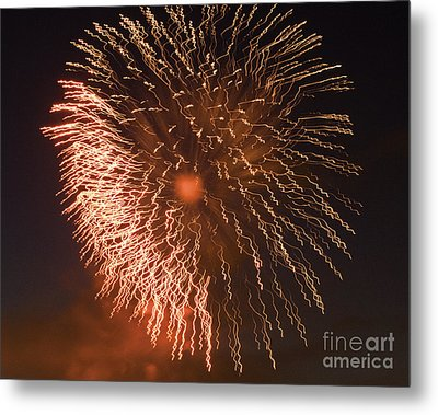 Fireworks Abstract 04 Metal Print by Crush Creations