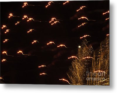 Fireworks Abstract 05 Metal Print by Crush Creations
