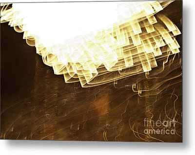 Fireworks Abstract 08 Metal Print by Crush Creations