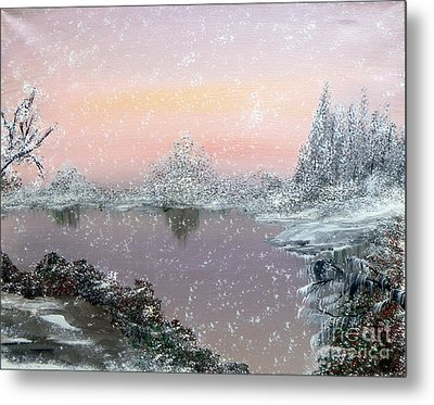 First Snowfall Metal Print by Alys Caviness-Gober