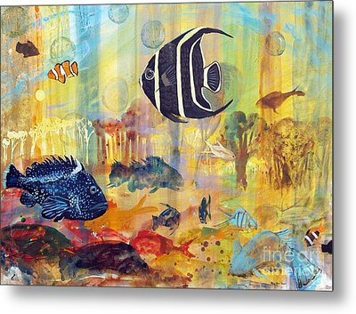 Fishes Metal Print by Robin Maria Pedrero