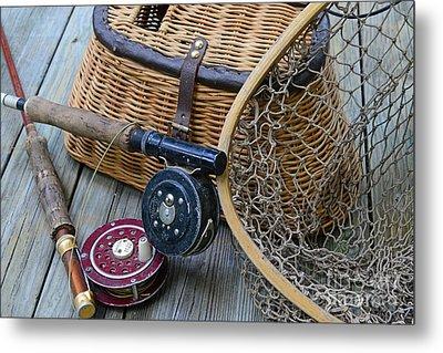 Fishing - Vintage Fishing  Metal Print by Paul Ward