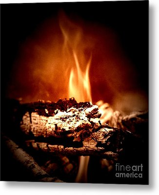 Flame Metal Print by Denise Tomasura