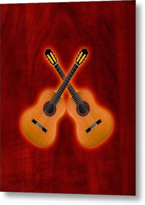 Flamenco  Guitar  Metal Print by Doron Mafdoos