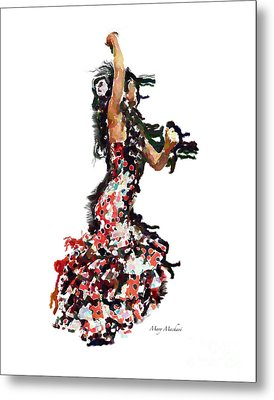 Flamenco Series #12 Metal Print by Mary Machare