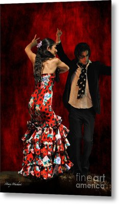 Flamenco Series #9 Metal Print by Mary Machare