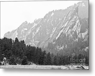 Flatiron In Black And White Boulder Colorado Metal Print by James BO  Insogna