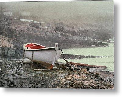 Flatrock Boat In Winter Metal Print by Douglas Pike