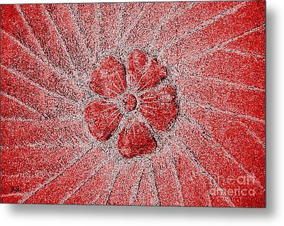 Metal Print featuring the photograph Fleur Scarlet by Geri Glavis