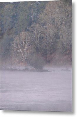 Metal Print featuring the pyrography Flint River 10 by Kim Pate