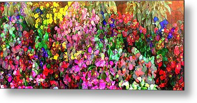 Floral Basket 1  2.4 To 1 Aspect Ratio Metal Print