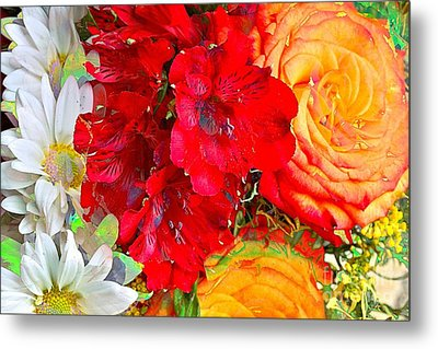 Floral Bouquet Metal Print