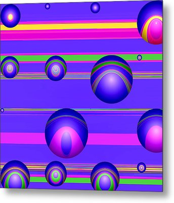 Flotation Devices - Grape Metal Print by Wendy J St Christopher