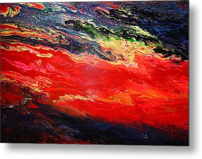 Metal Print featuring the painting Flow #1.abstract by Viktor Lazarev