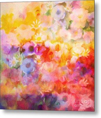 Flower Fiesta Metal Print by Lutz Baar