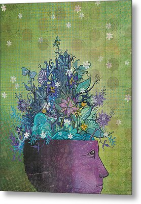 Flower-head1 Metal Print by Dennis Wunsch