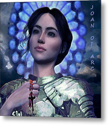 Joan Of Arc Flower Of France Metal Print