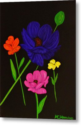 Flower Play Metal Print by Celeste Manning