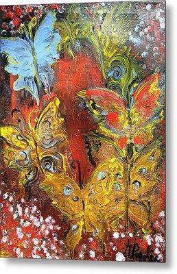 Fluttery Butterflies Metal Print by Evelina Popilian