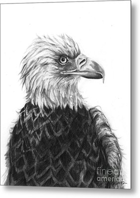 Metal Print featuring the drawing Fly On Free Wings by J Ferwerda