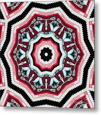 Food Mixer Mandala Metal Print by Andy Prendy