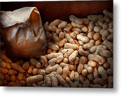 Food - Peanuts  Metal Print by Mike Savad