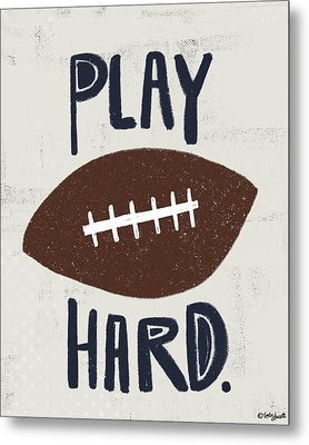 Football Metal Print by Katie Doucette