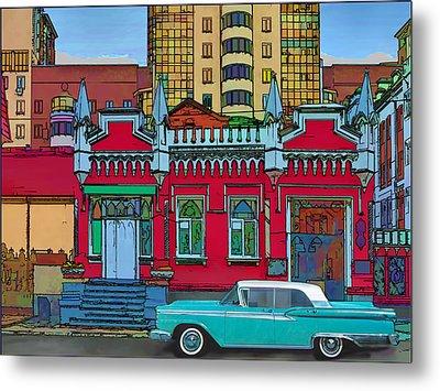 Ford Galaxy-town-victoria 1959 Metal Print by Vladimir Kholostykh