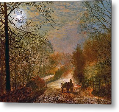 Metal Print featuring the painting Forge Valley Near Scarborough by John Atkinson Grimshaw