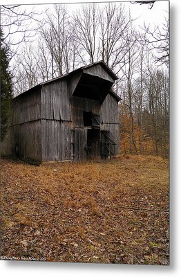 Metal Print featuring the photograph Forgotten Barn by Nick Kirby