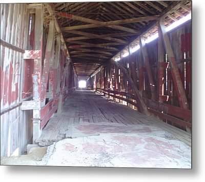 Metal Print featuring the photograph Forgotten Tunnel by Fortunate Findings Shirley Dickerson