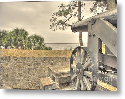 Fort Mcallister Cannon Metal Print