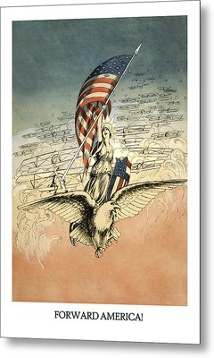 Forward America Metal Print by Aged Pixel