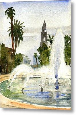 Fountain At Balboa Park Metal Print