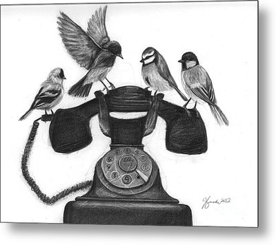 Four Calling Birds Metal Print by J Ferwerda